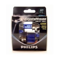 Галогенные автолампы Philips H1 Crystal Vision 4300K (Twin Blister)